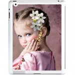 Coque iPad 2 blanche avec PHOTO PERSONNALISEE