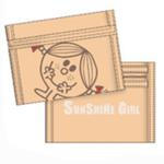 Grand porte-feuille Miss Sunshine beige