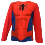 Tee shirt manches longues rouge Marvel Spiderman taille 6 ans